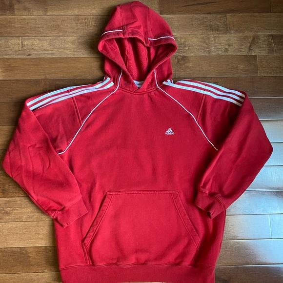 adidas fleece pullover hoodie